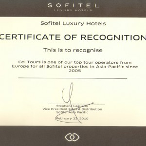 award_sofitel_certificate_2010