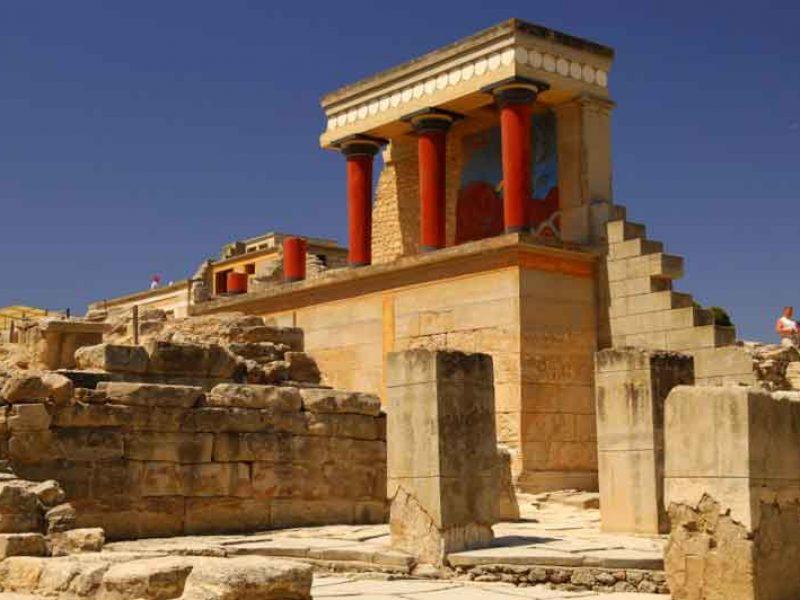 Herakleion-archeologische-plaats-Knossos-paleis-crete-island-Egeïsche-griekenland-europe-cel-tours