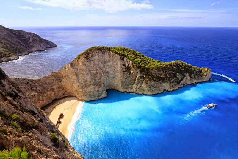 Navagio Gt Athens Peloponnese Zakynthos Santorini