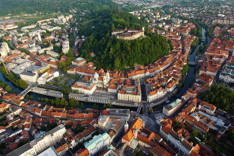 любляны-сити-надземные-View-словения-Балканов-Европа-Cel-туры