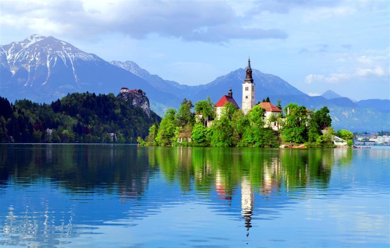 СЛОВЕНИЯ-альпы-озеро-кровь-Балканов-Европа-Cel-туры