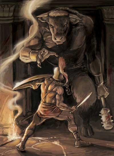 Theseus-en-minotaur